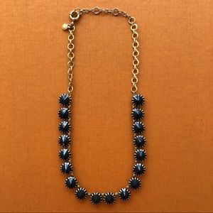 J.Crew Blue and Gold 16in Necklace